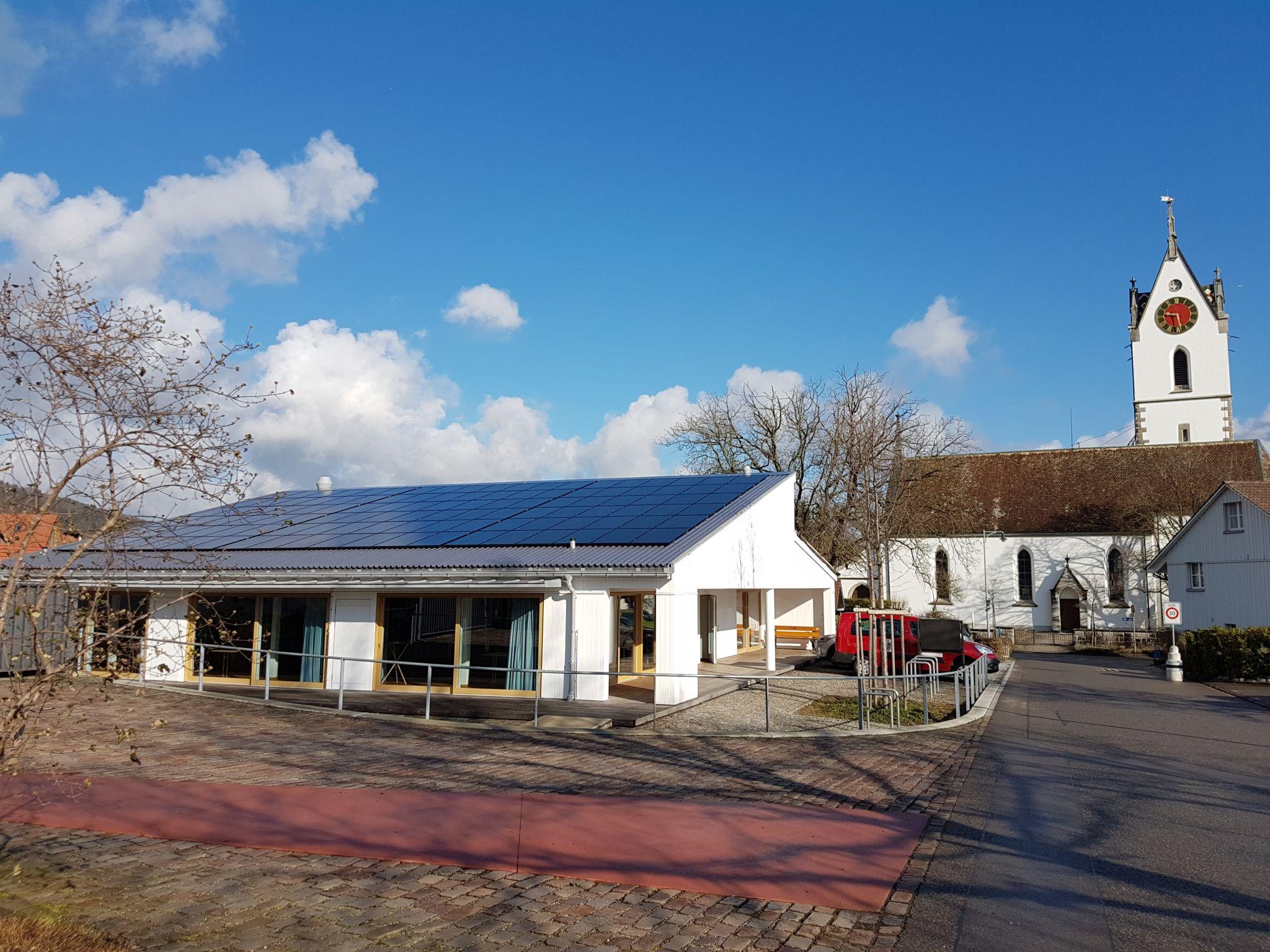 Solaranlage Kirchgemendehaus Kreuzbühl