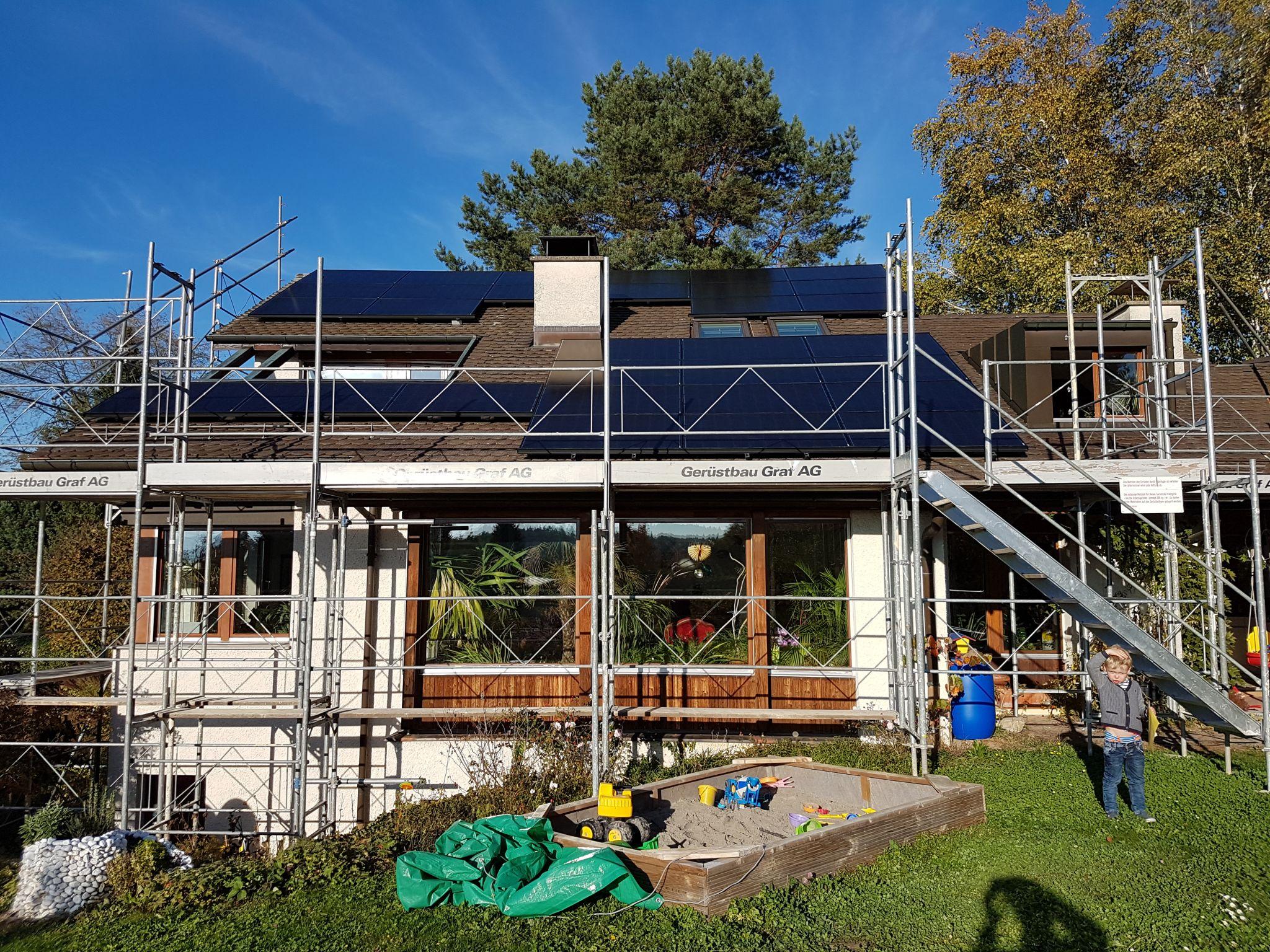 Bau der 18 kW Solaranlage