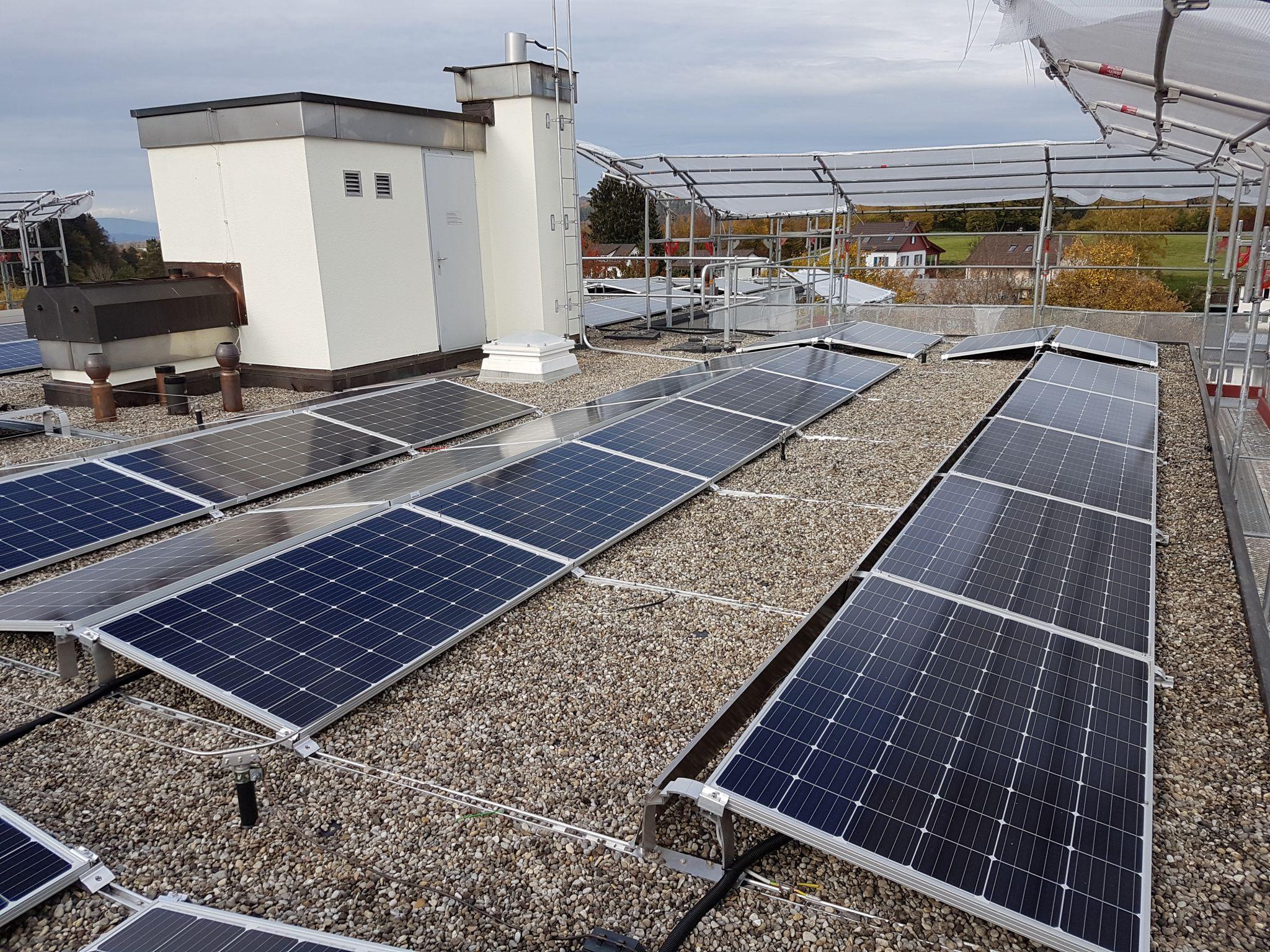 Realisation der 26.4 kW Solaranlage