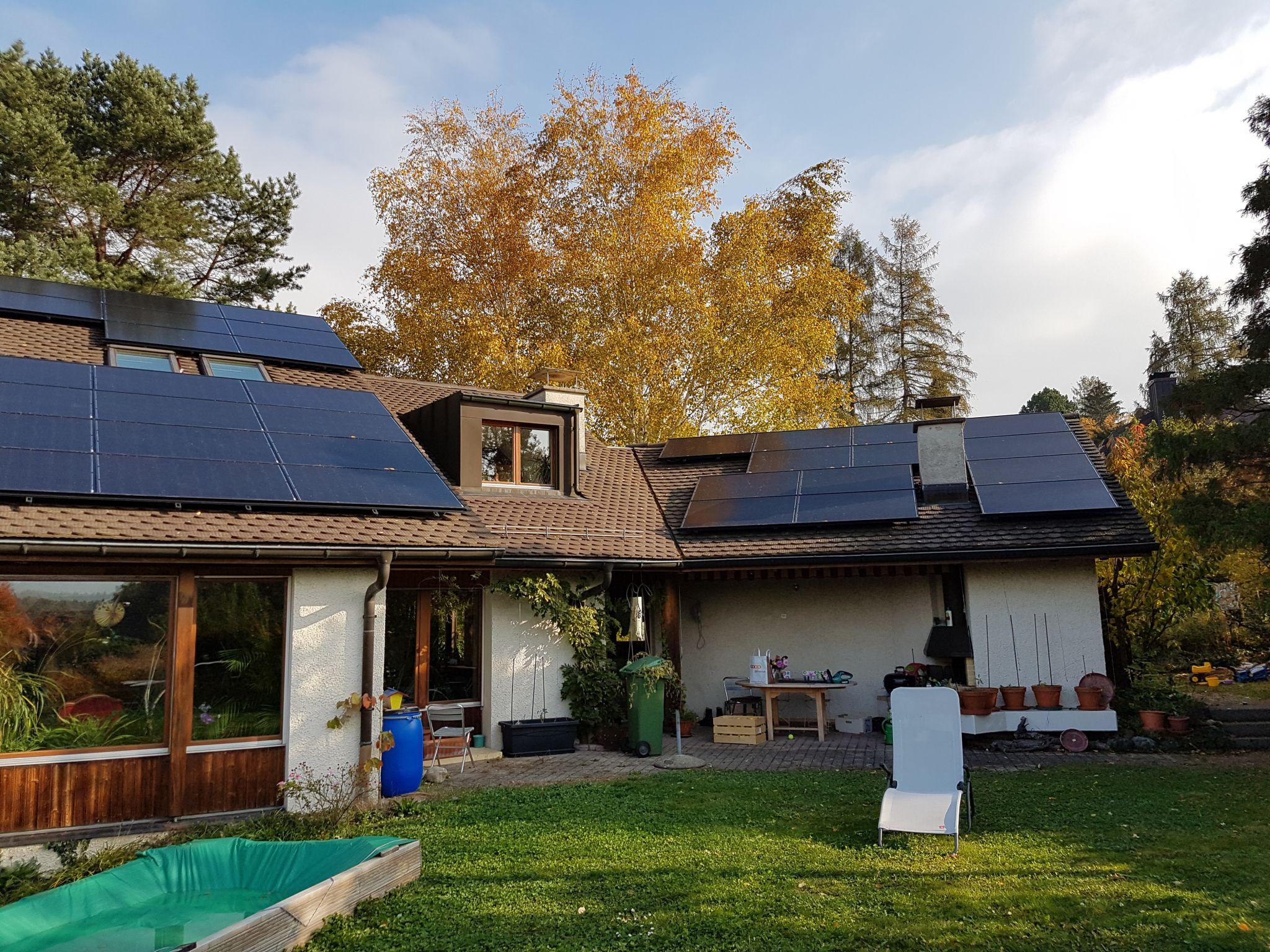 Stromgewinnung durch Fotovoltaik für Haushalt